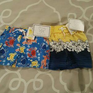 Set of 2 NWT swim trunks