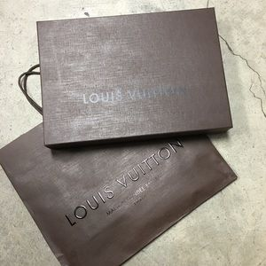 Authentic Louis Vuitton Scarf box shopper bag