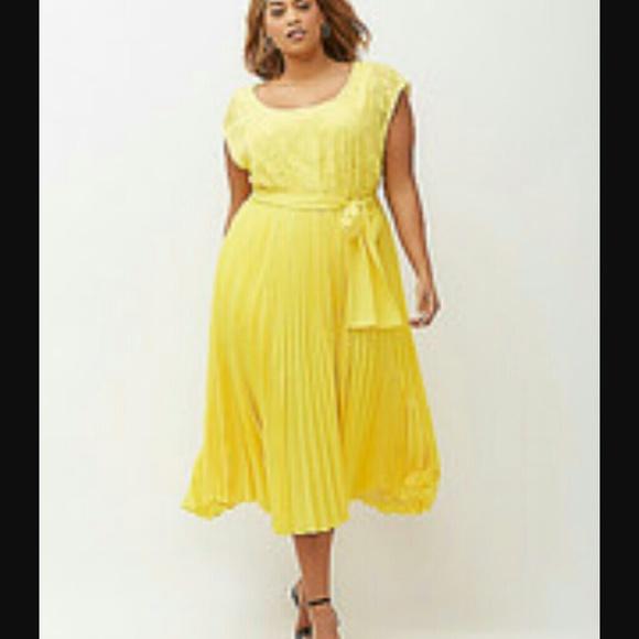 b4f7b726367 ❤HP❤ New Lane Bryant 22 24 beautiful yellow dress