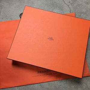 Authentic Hermes bag box with shopper bag