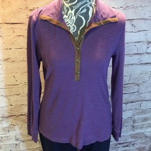 Chaps Tops - SZ LG CHAPS HENLEY STYLE TOP