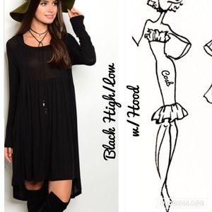 Sale!🔥1 Left!!! 2X's HP!  High/Low Dress w/Hood