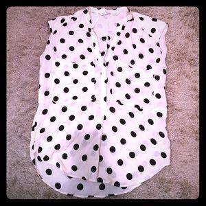 Zara top blouse polka dot !!!