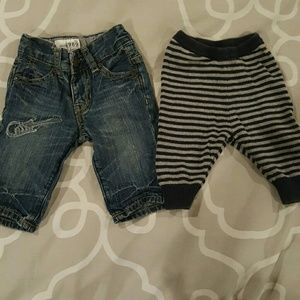 Gap Baby Jean's and Striped Joggers