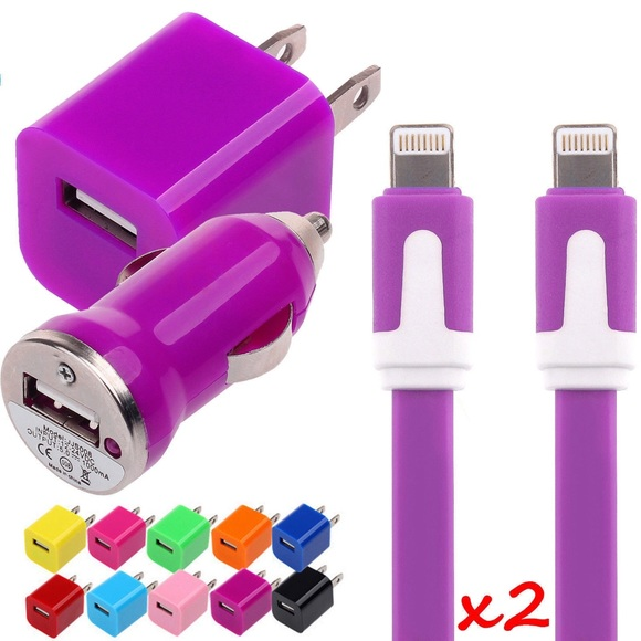 Purple iPhone Charging Kit for 5,5C,5S,6,6+ Boutique