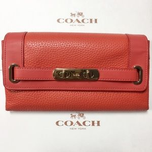 Authentic Coach 53028 Orange Swagger Wallet