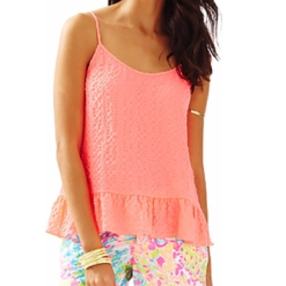 Lilly Pulitzer Tops - SALE 🎉 Lilly Pulitzer Textured Tank in Neon Coral
