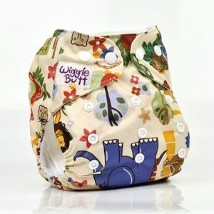 Wiggle Butt  Other - One size reusable cloth pocket diaper (Wild)