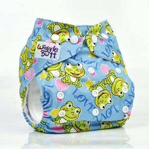 Wiggle Butt  Other - One size reusable cloth pocket diaper (Frog)