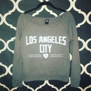 Young & Reckless Tops - Young & Reckless Los Angeles City Sweatshirt.