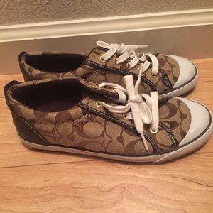 Coach Shoes - Brown 100% authentic Coach Barrett Shoes, 7.5