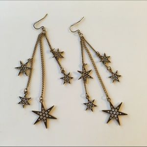 Jewelry - Snowflakes star long earring