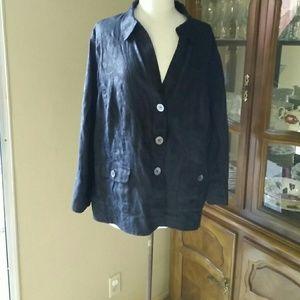 Jones New York Jackets & Blazers - 100% linen jacket