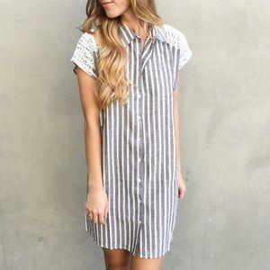| new | striped shirt dress