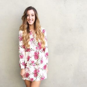 | new | floral lace up dress
