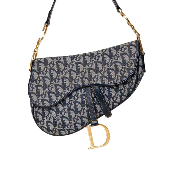 Dior Handbags - AUTH Christian Dior Saddle Bag in Denim 203161c3d2a13