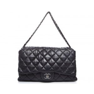 ffde001a2194 CHANEL Bags - Chanel Black Lambskin Maxi 3 Accordion Flap Bag
