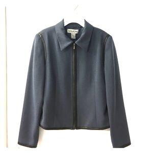 Jackets & Blazers - Blue with Black Trim Jacket!