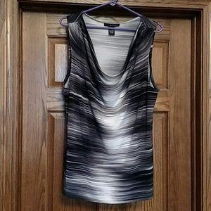 Grace Tops - XL Grace Black & White Sleeveless shirt