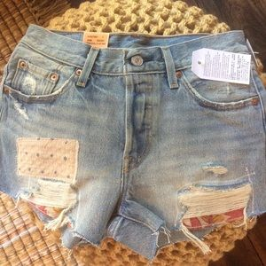 "Urban Outfitters Pants - Levi's 501 ""Canyon Morning"" Cut Off jean Shorts"