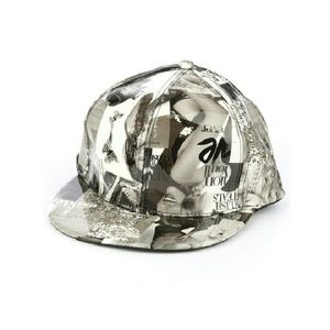 Accessories - Magazine Print Snap Back Cap Hat
