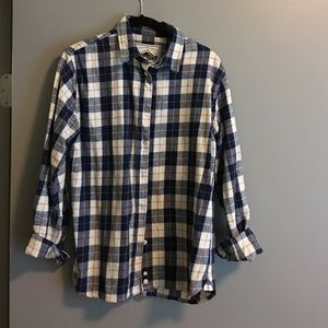 Penfield blue plaid button up shirt