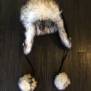 Accessories - Faux Fur Winter Hat with Flaps