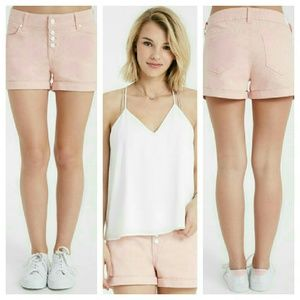 Wet Seal Pants - 🎉HP 4/9 Ladies pastel exposed button shorts🎉
