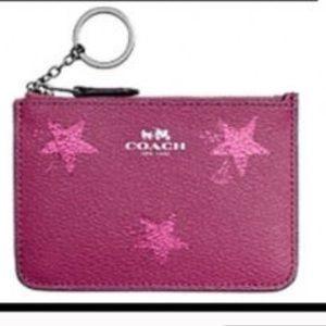 Coach Accessories - COACH Cranberry Star Canyon Wristlet Key Pouch