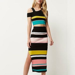 NWT River Island Coordinate Top & Skirt Set
