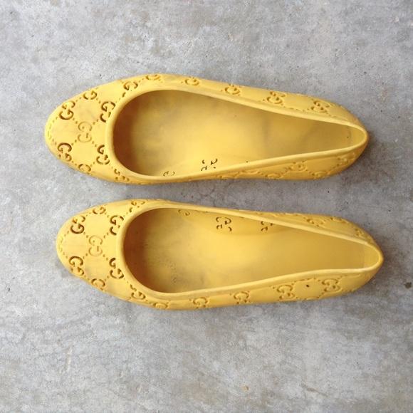 cheap for discount 56bd0 72ea6 Gucci Gummi Ballerina Shoes