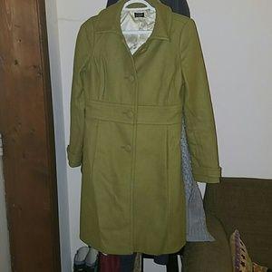 Green J Crew pea coat