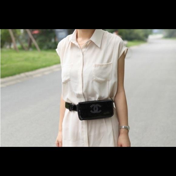 ba970ce2d5 Chanel patent leather waist bag/ clutch NWT
