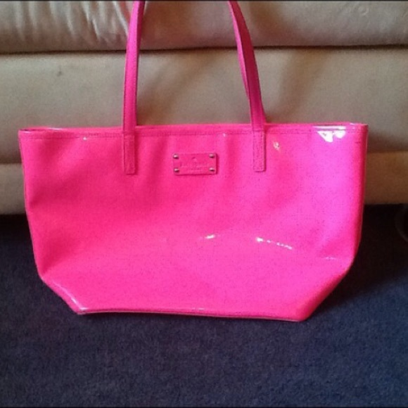 83% off kate spade Handbags - Kate Spade Hot Pink Tote from ...