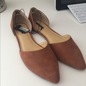 Forever 21 Tan Camel Pointed Flats 7