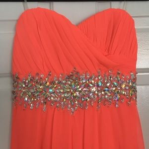 Sequin Hearts Dresses - Bright Salmon Long Formal Dress SIZE 5