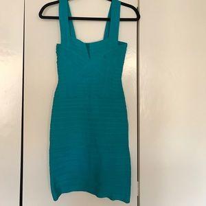 Herve Leger Dresses & Skirts - AUTHENTIC Herve Leger turquoise bandage dress Sml
