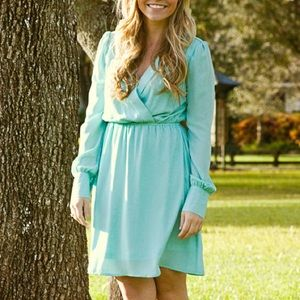 Dresses & Skirts - Long Sleeve Mint Dress