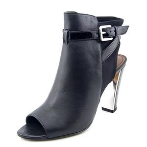 Donald J. Pliner Shoes - Donald Pliner Mirrored Buckle Open Toe Booties