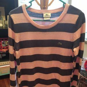 Lacoste striped long sweater