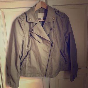 Banana Republic cotton motorcycle jacket size S