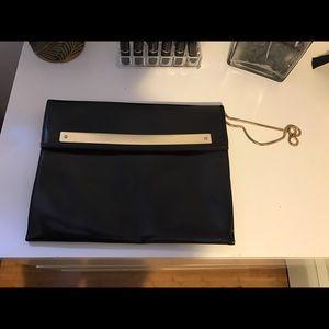 Zara Basic Black and Gold Clutch
