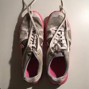 Pink and Gray Nike Trainers