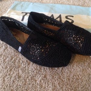 Black Crochet TOMS
