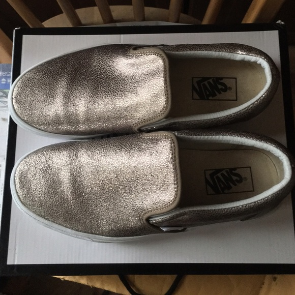 0d6eac1283 Vans Asher Metallic Bronze Slip-Ons