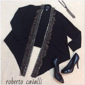 Roberto Cavalli Sweaters - Roberto Cavalli Black Shrug w/Chain Authentic