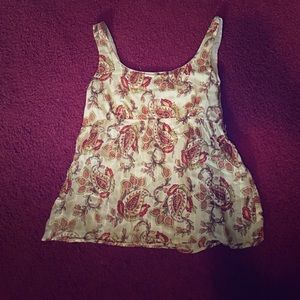 Tops - 5/25 Paisley Printed empire waist tank top