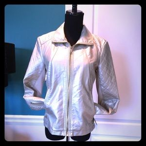 Kenneth Cole Reaction Jackets & Blazers - Gold quilted jacket w/stretch panels