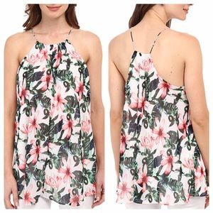 Vince Camuto Tops - Tropical Print Tank Blouse