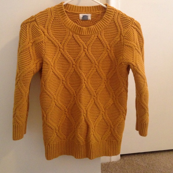 64% off Old Navy Sweaters - Old Navy Mustard Cable Sweater from ...